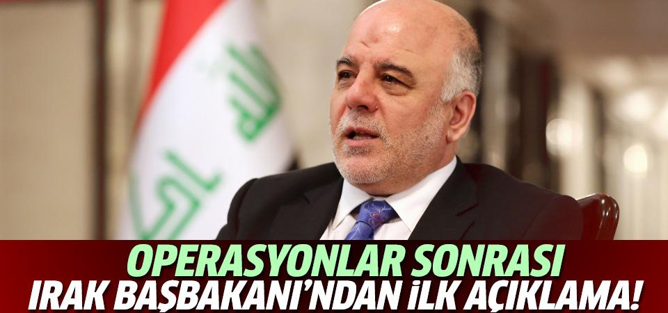 Operasyonlar sonrası Irak Başbakanı'nından ilk açıklama!