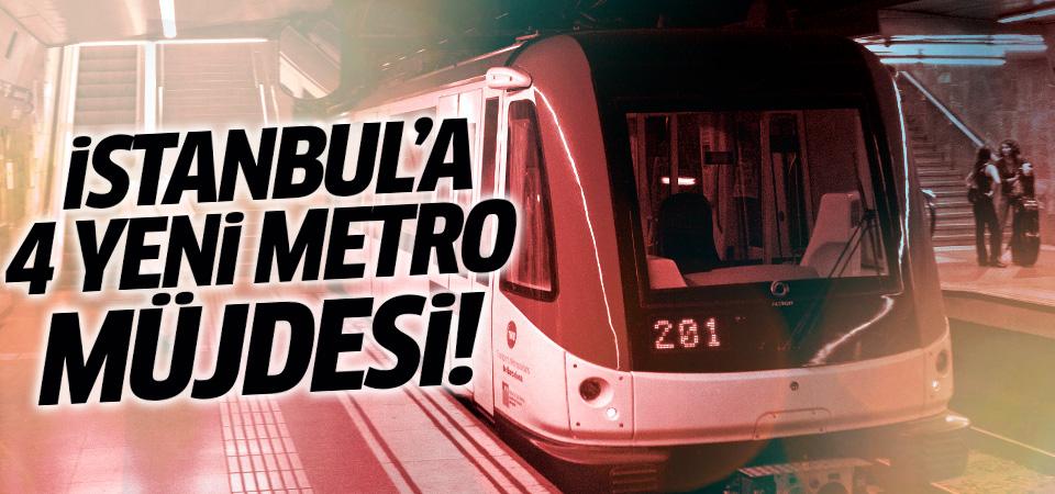 Anadolu Yakası'na 4 yeni metro hattı geliyor