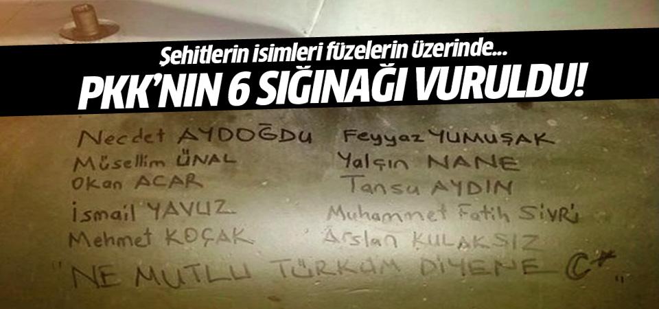 Başbakanlık: 6 PKK sığınağı vuruldu