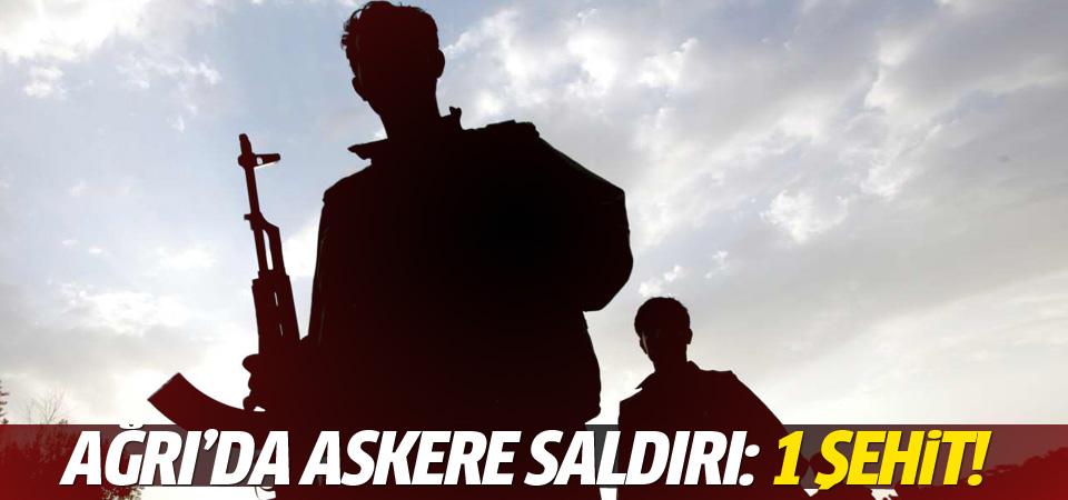 Ağrı'da askere saldırı: 1 şehit