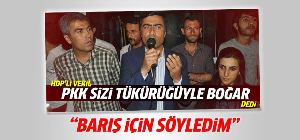 HDP'li Zeydan tükürük ifadesi için konuştu