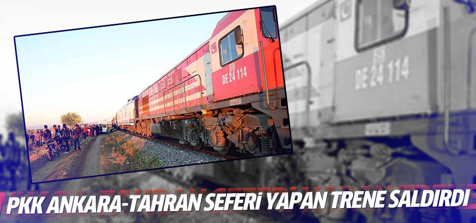PKK'dan Ankara-Tahran seferini yapan trene saldırı