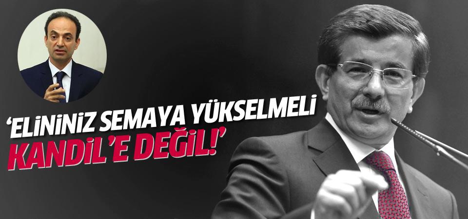 Başbakan Davutoğlu'ndan Osman Baydemir'e tepki