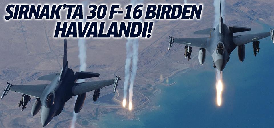 30 F-16 Kandil'i bombaladı