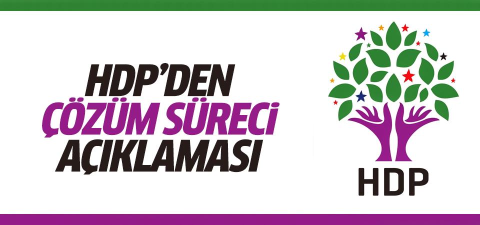 HDP'den çözüm süreci açıklaması