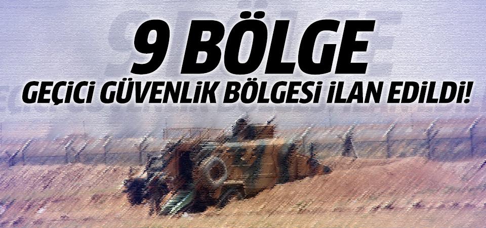 Şırnak'ta 9 bölge Geçici Güvenlik Bölgesi ilan edildi