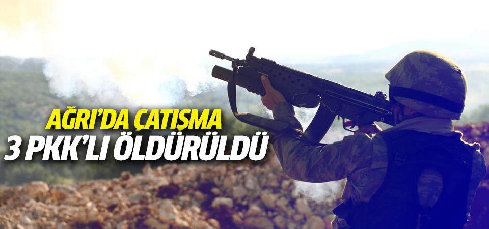 Ağrı'da 3 PKK'lı öldürüldü