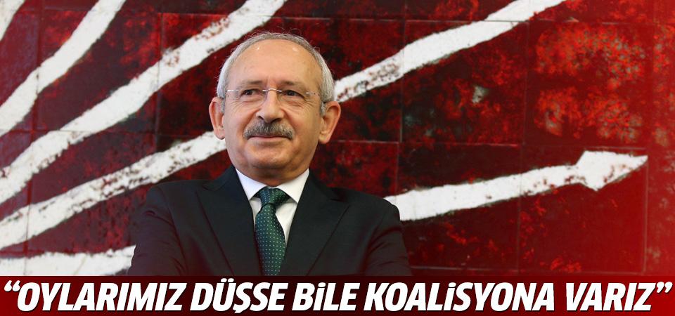Kılıçdaroğlu: Oylarımız düşse de koalisyona varız