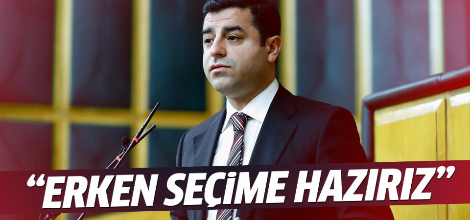 Demirtaş: HDP erken seçime hazırdır