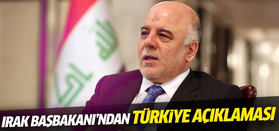 Haydar el-İbadi'den Türkiye açıklaması!