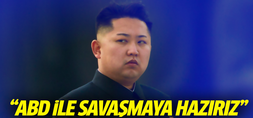Kim Jong Un: ABD ile savaşmaya hazırız