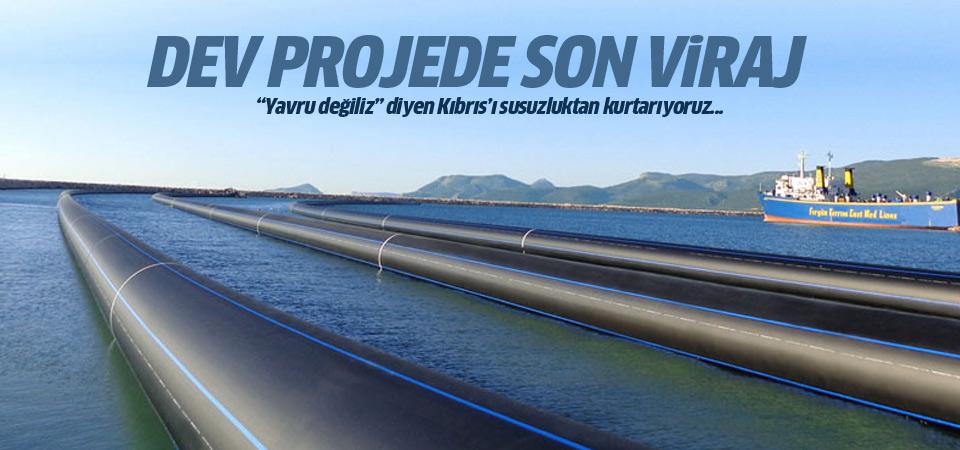 Dev Kıbrıs suyu projesinde son 10 km