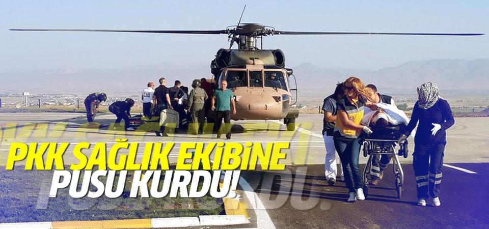 PKK'lılar helikopterdeki sağlık ekibine pusu kurdu