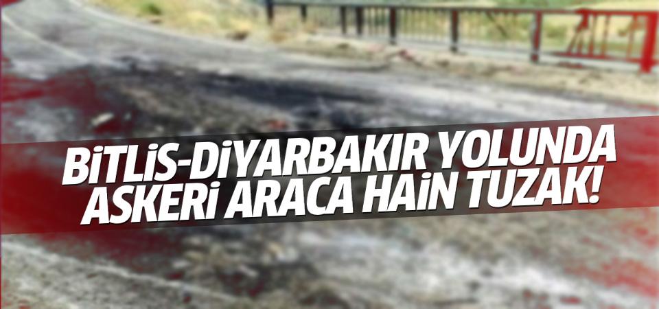Bitlis-Diyarbakır Karayolunda askeri araca hain tuzak