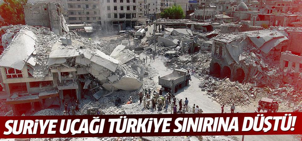 Türkiye sınırına Suriye savaş uçağı düştü
