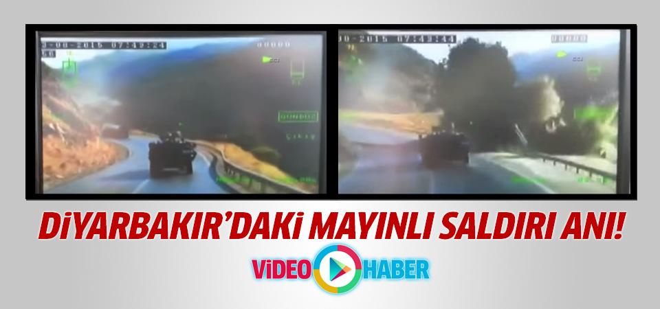 Bitlis-Diyarbakır karayolundaki mayınlı saldırı anı kamerada