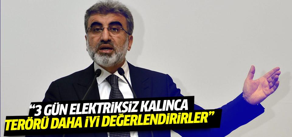 Taner Yıldız: 'HDP seçmeni 3 gün elektriksiz kalsın...'