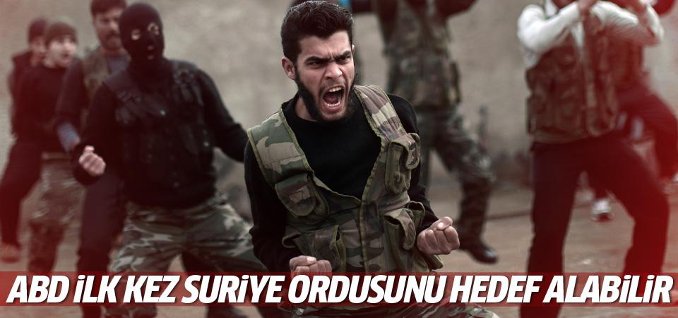 ABD ilk kez Suriye ordusunu hedef alabilir