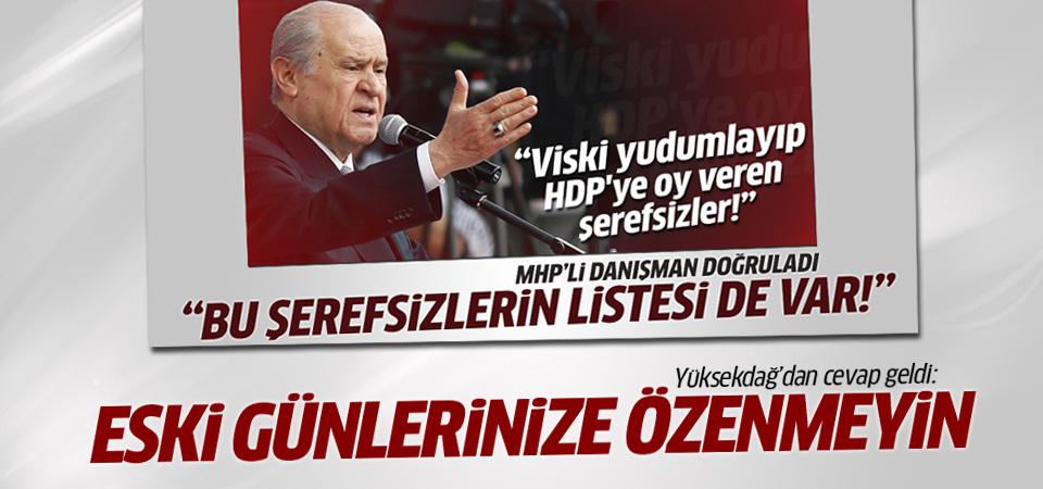 Yüksekdağ'dan MHP'li Metin Özkan'a yanıt geldi
