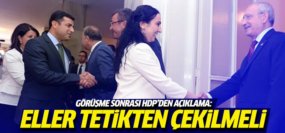 Görüşme sonrası HDP'den ilk açıklama