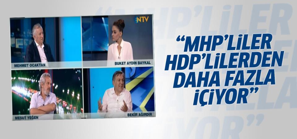 Bekir Ağırdır: MHP'liler HDP'lilerden daha fazla içiyor