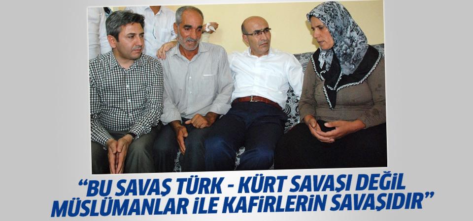 Şehitin abisi: Bu savaş Türklerle Kürtlerin savaşı değil...