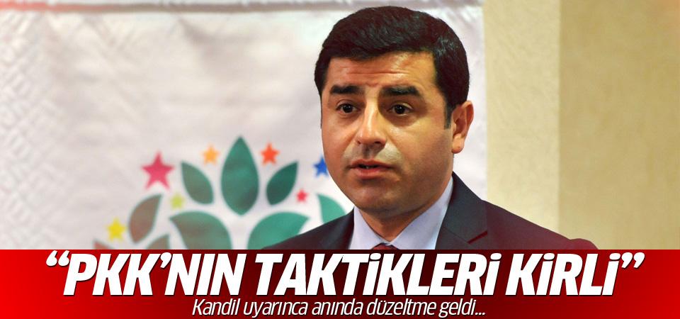 Demirtaş: PKK'nın taktiği kirli