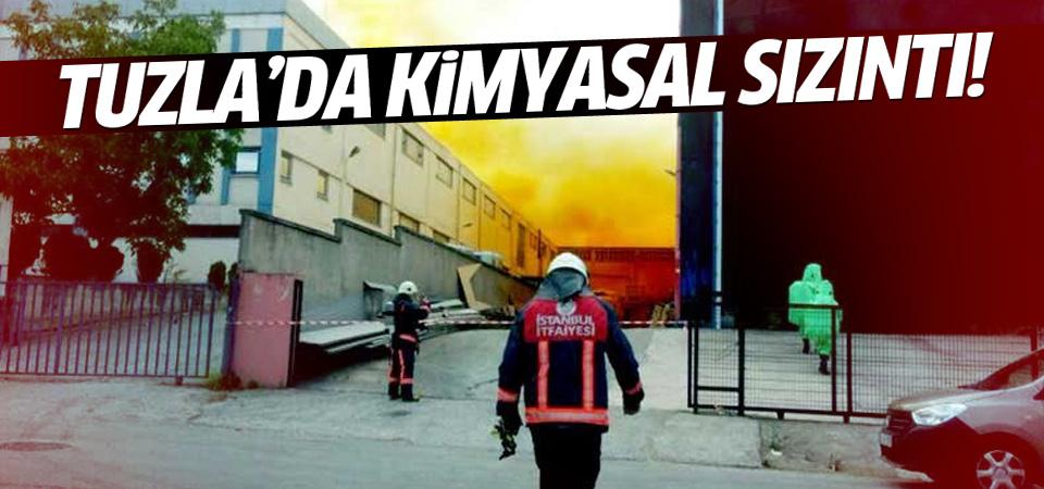 Tuzla'da bir fabrikada kimyasal sızıntı