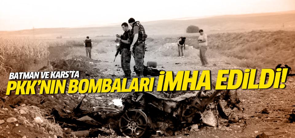 Batman ve Kars'ta PKK'ya ait bombalar imha edildi!