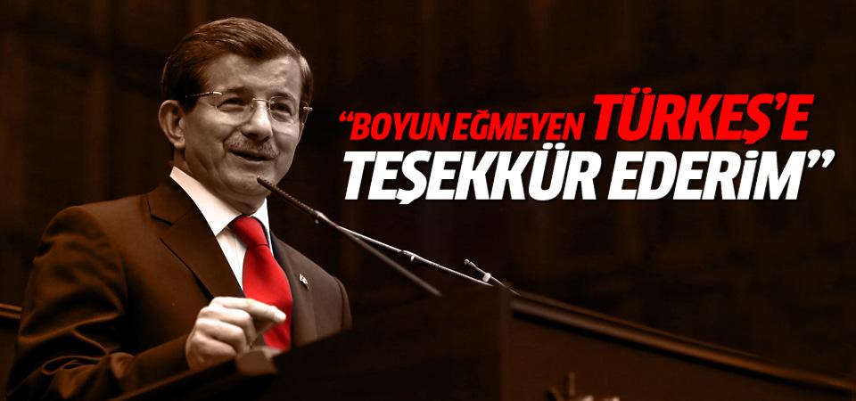 Davutoğlu: Boyun eğmeyen Türkeş'e teşekkür ederim