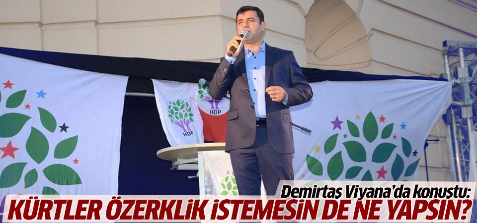 Demirtaş'tan özerklik açıklaması
