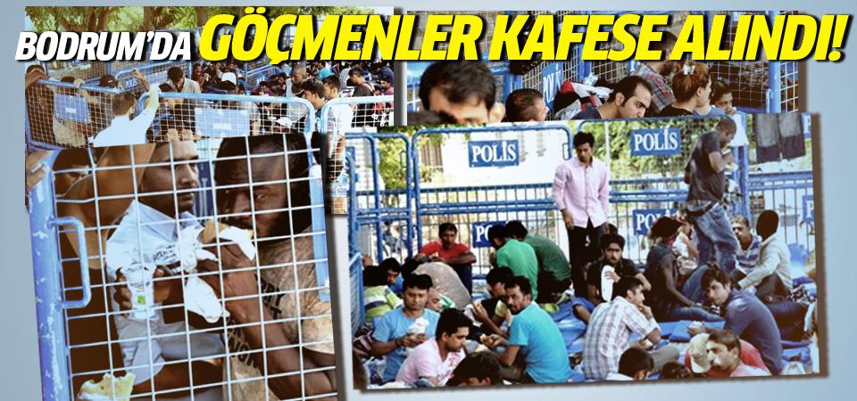 Bodrum'da göçmenlere demir kafes!