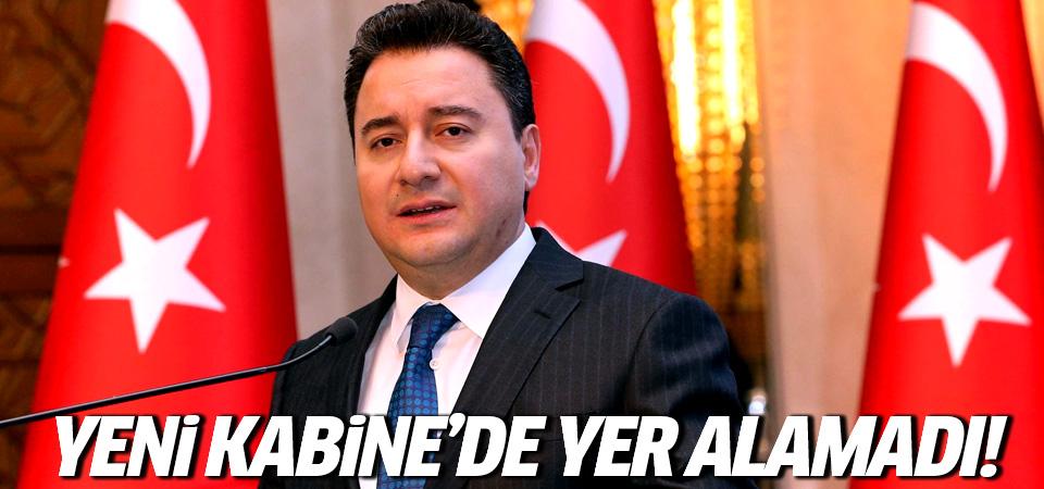 Ali Babacan yeni kabinede yer alamadı!
