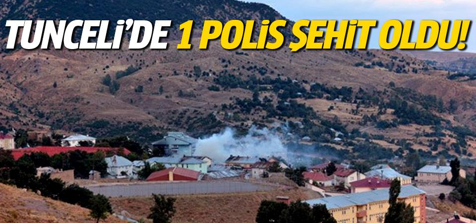 Tunceli'de terör saldırısı: 1 polis şehit!