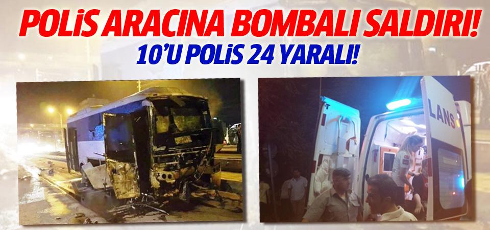 Mardin'de polis aracına saldırı: 10'u polis 24 yaralı!