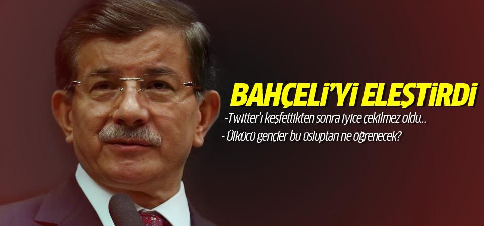 Davutoğlu Bahçeli'nin tweet'lerini eleştirdi