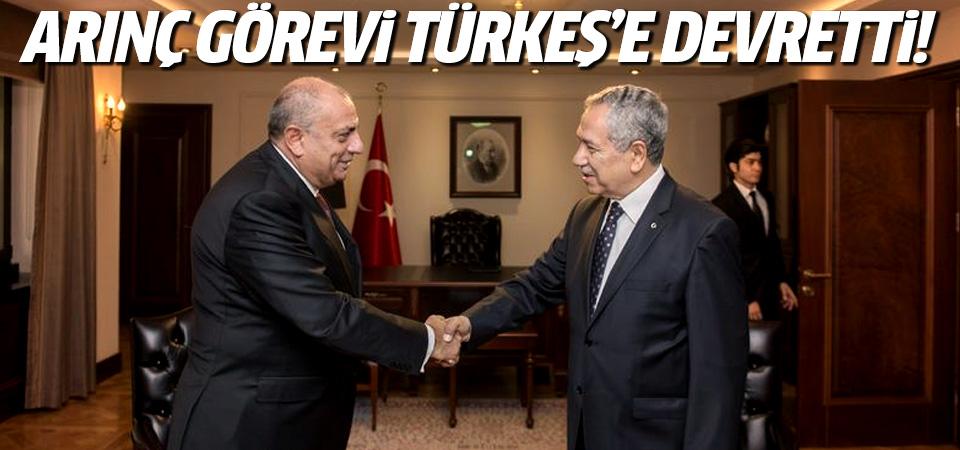 Arınç görevini Türkeş'e devretti!
