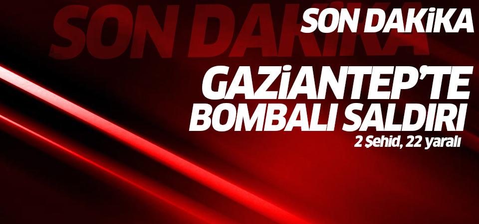 Gaziantep'te bombalı saldırı: 1 şehid 21 yaralı