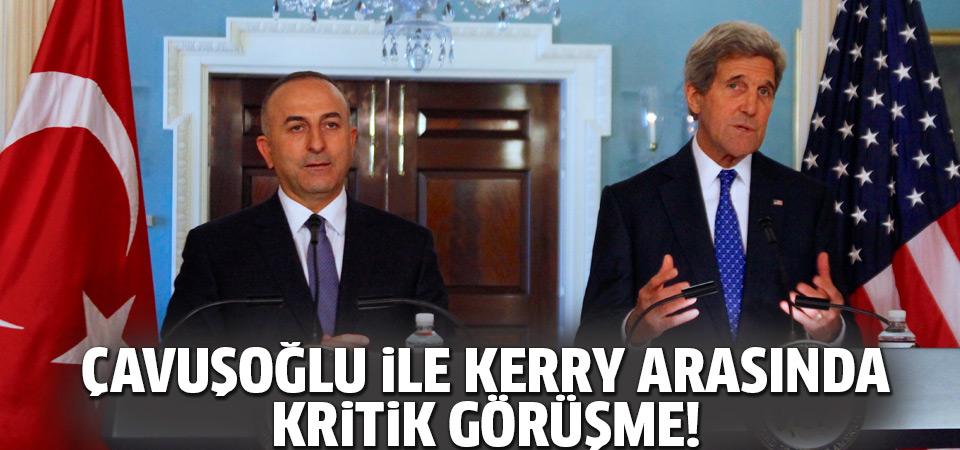 Dışişleri Bakanı Çavuşoğlu, Kerry ile Suriye'yi görüştü