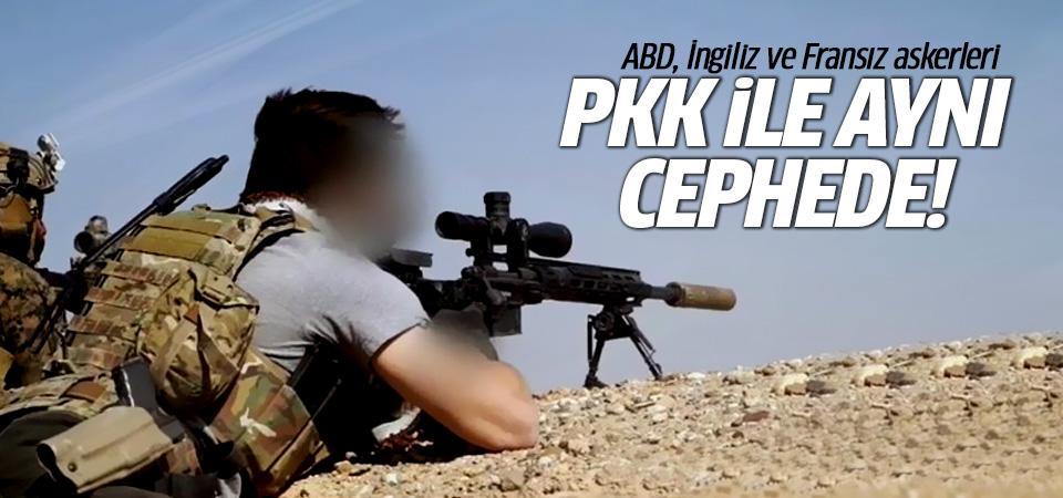 ABD, İngiliz ve Fransız askerleri YPG/PKK ile aynı cephede!