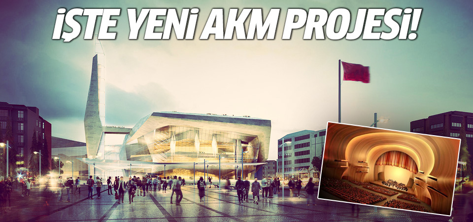 Taksim AKM için yeni proje! 2 Mayıs 2016