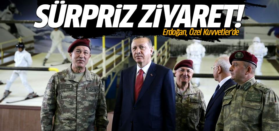 Erdoğan'dan Özel Kuvvetler'e ziyaret!