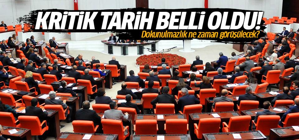 AK Parti dokunulmazlık görüşmeleri için tarih verdi