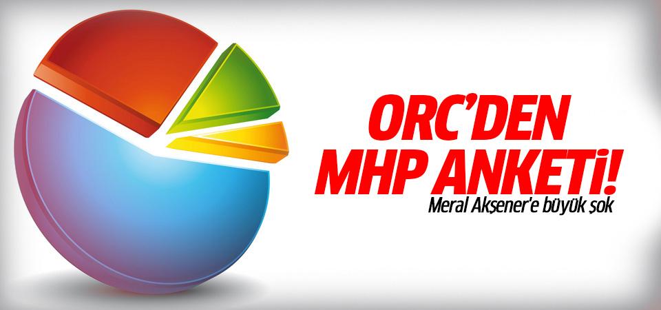 ORC'den MHP anketi! 4 Mayıs 2016