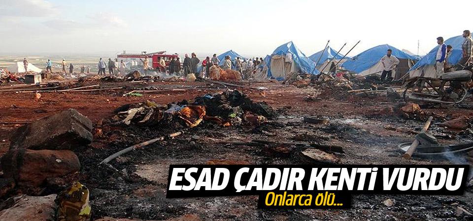 Esed çadır kenti vurdu