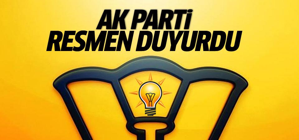 AK Parti kongre tarihini sitesinden duyurdu