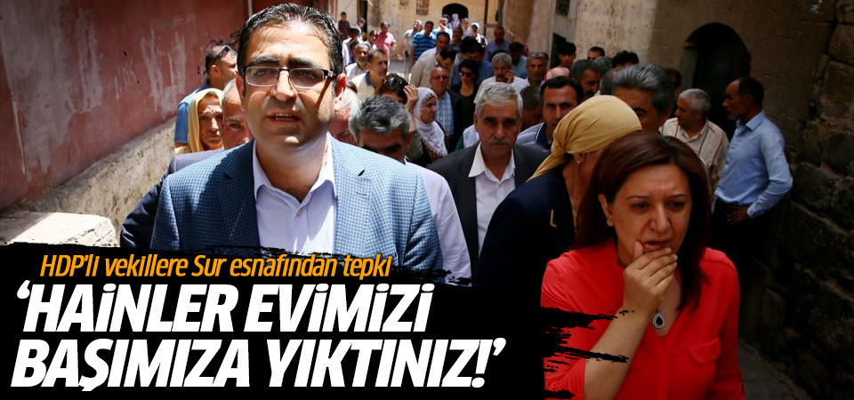 HDP'li vekillere Sur esnafından tepki