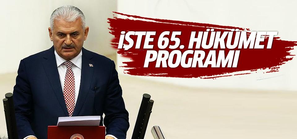 Başbakan Yıldırım Hükümet programını açıkladı