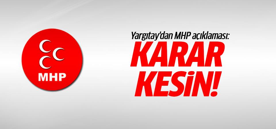 Yargıtay'dan MHP açıklaması: Karar kesin!