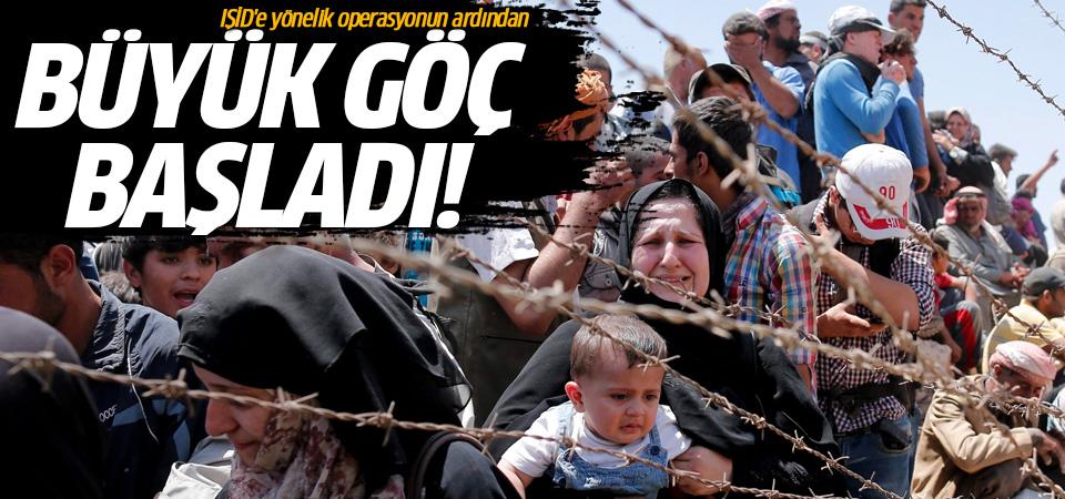 Rakka'da IŞİD'e yönelik operasyonun ardından büyük göç başladı!